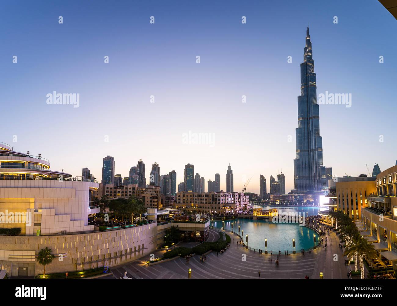 Burj Khalifa, Innenstadt, Dubai, Vereinigte Arabische Emirate Stockfoto