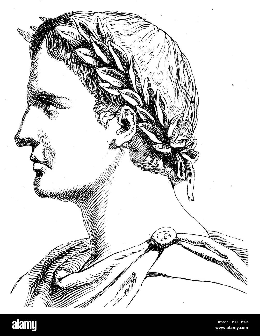Publius Ovidius Naso, war 43 BC - AD 17/18, bekannt als Ovid, ein römischer Dichter, die Geschichte des antiken Stockfoto