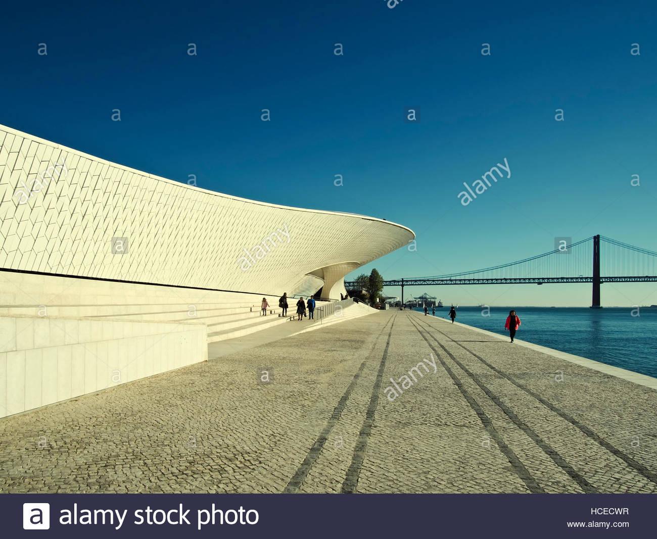 Lisbon portugal maat museum art stockfotos lisbon for Architektur lissabon