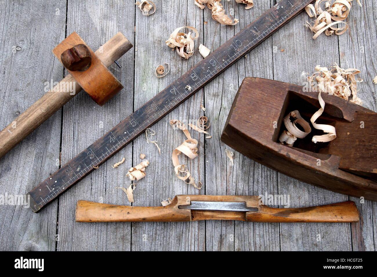antike vintage herrscher schabhobel verzapfen gauge und block flugzeug holzarbeiten tools auf. Black Bedroom Furniture Sets. Home Design Ideas