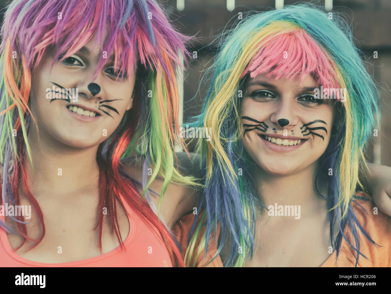 Mädchen mit Kinderschminken Stockbild