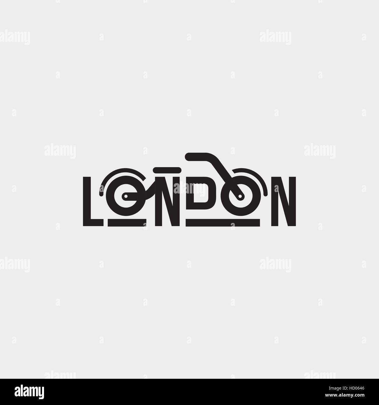 Motorrad Club Markenidentität. Londoner Fahrrad Vektor-Logo Design ...