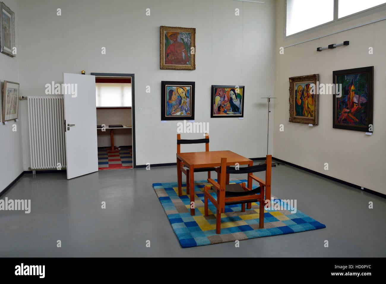 Interieur des Hauses am Horn Gebäude in Weimar Stockfoto, Bild ...