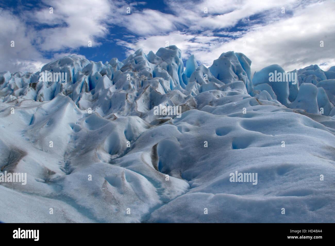 EL CALAFATE, ARG, 06.12.2016: Argentinischen Perito Moreno-Gletscher im Nationalpark Los Glaciares in Südwest Stockbild