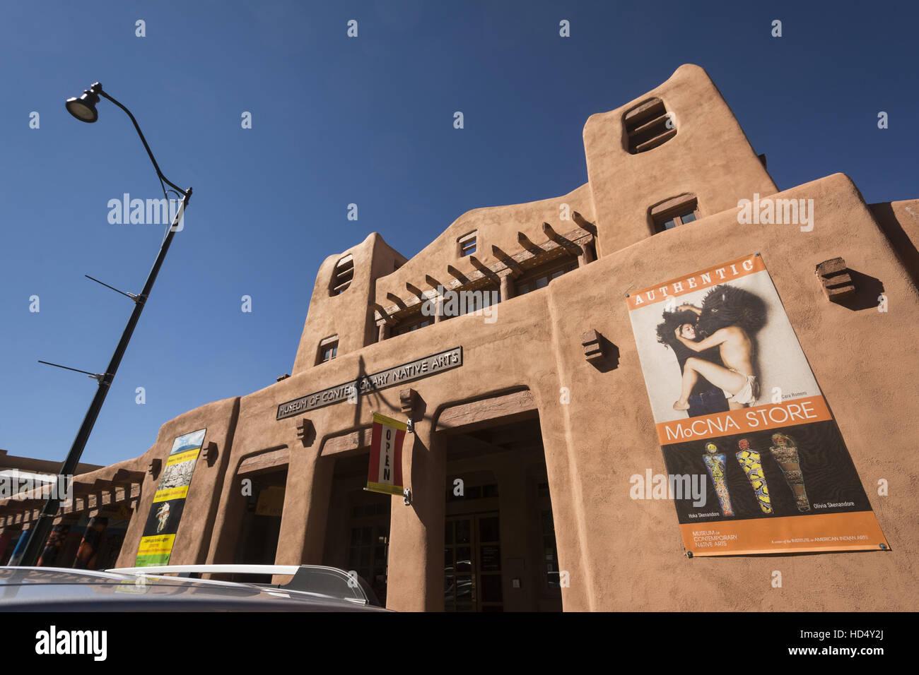 Santa Fe, New Mexico IAIA Museum of Contemporary Native Arts Stockbild