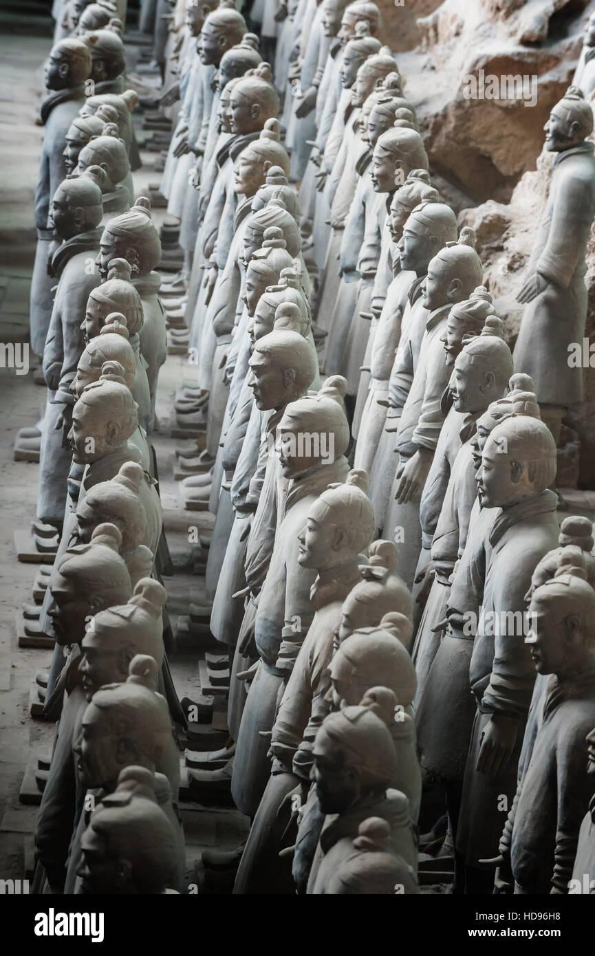 Museum der Terrakotta-Krieger, Mausoleum des ersten Qin-Kaisers, Xian, Provinz Shaanxi, China Stockbild