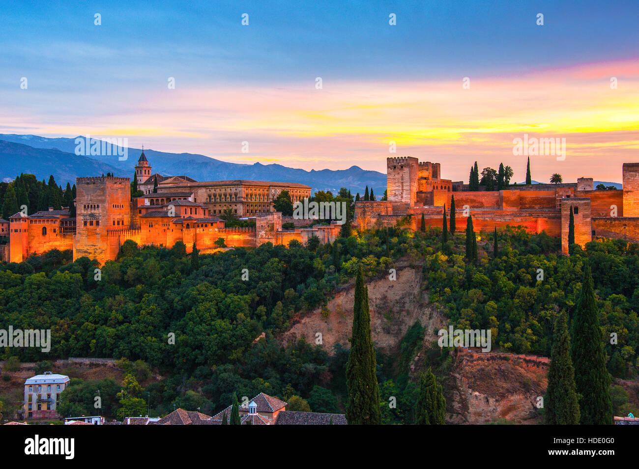 Granada, Spanien Stockbild