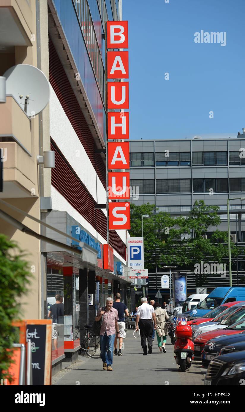 Bauhaus Schöneberg logo bauhaus building market stockfotos logo bauhaus building