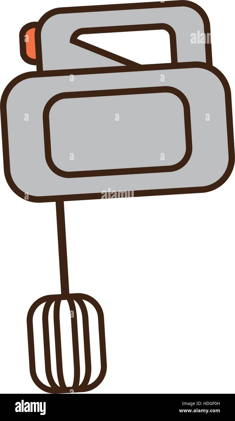 elektrischen Mixer Cartoon Kochen Küche Gerät Vektor Illustration ...