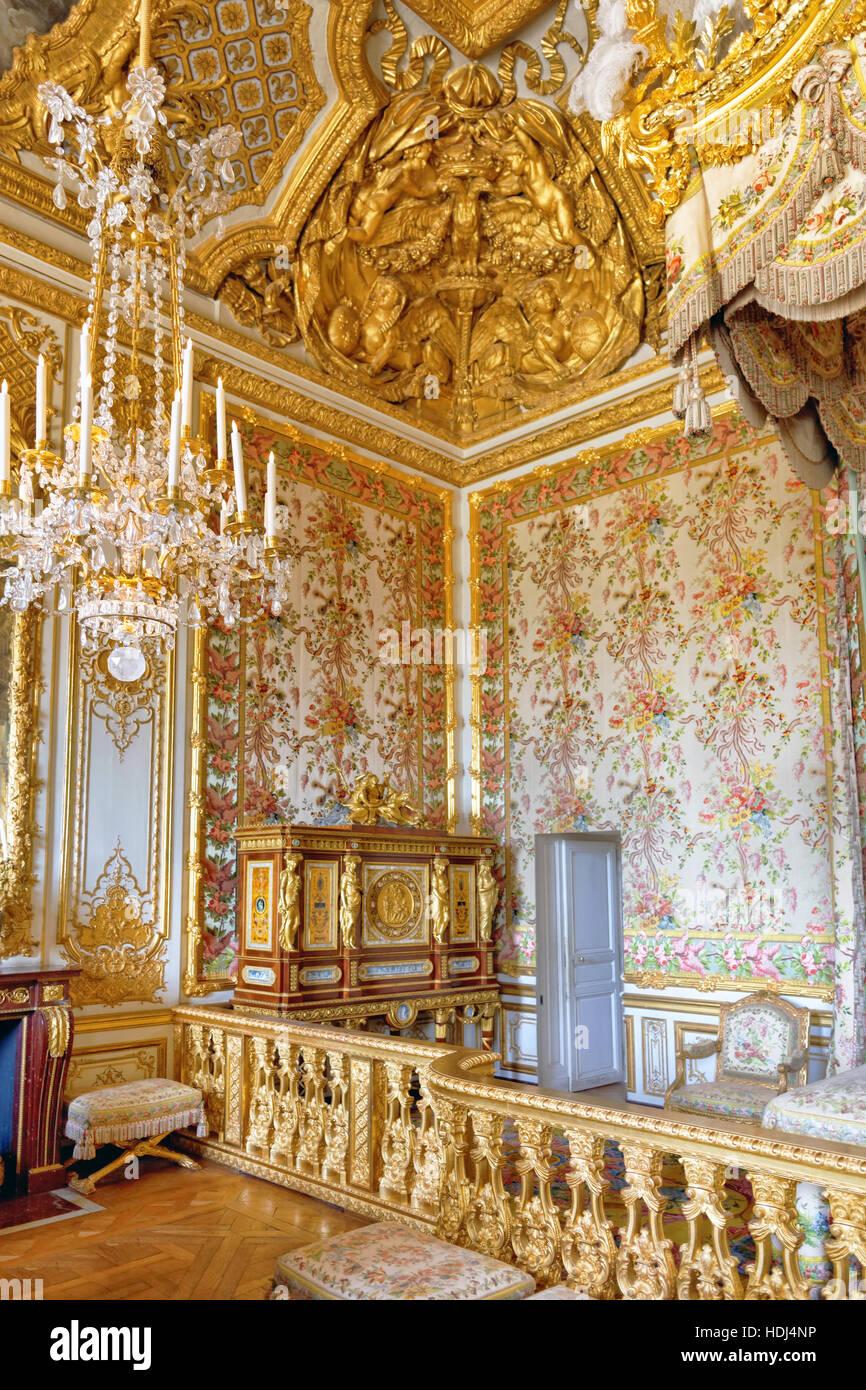 VERSAILLES-Frankreich - 21.September Interieur des Queen ...