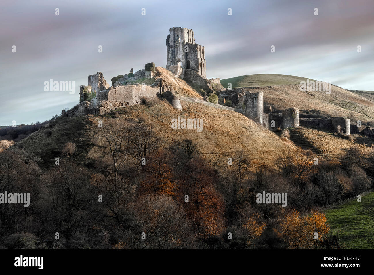 Corfe Castle, Dorset, England, UK Stockbild