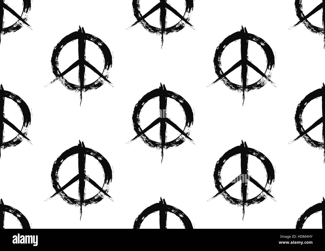 Pazifistische Symbol Muster gemalt Stockbild
