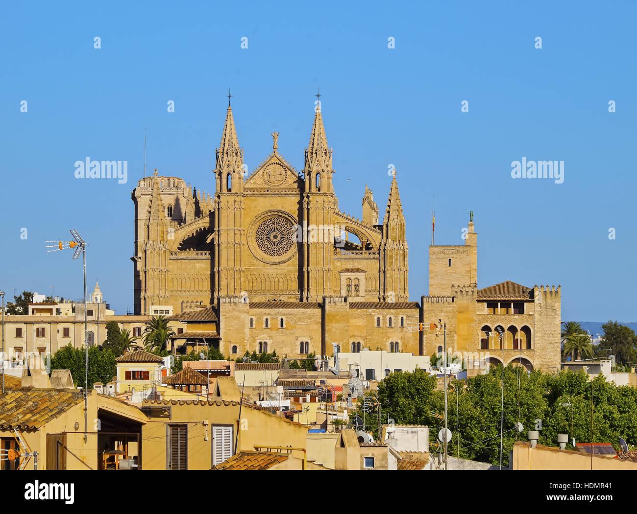 Kathedrale La Seu, Palma De Mallorca, La Palma, Balearen, Spanien Stockbild