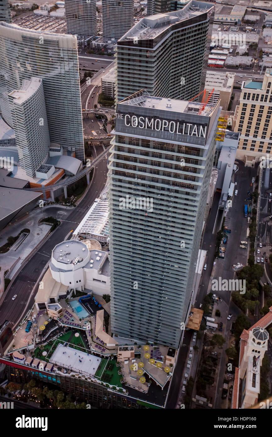Luftaufnahme Von Cosmopolitan Hotel Auf Dem Strip Las Vegas Nevada
