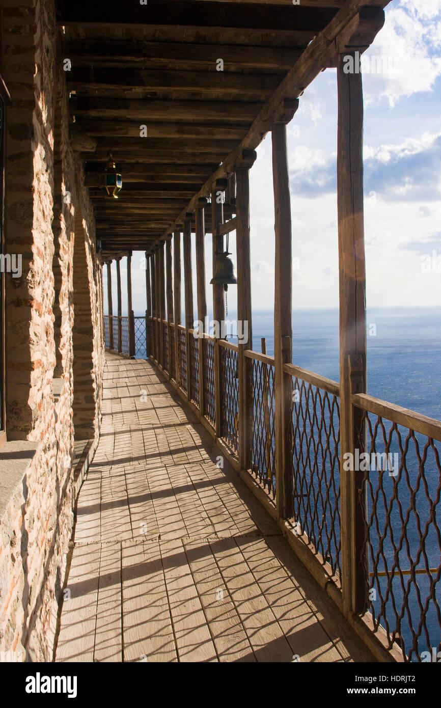 Simonos Petra Oder Simonopetra Kloster Auf Der Halbinsel Athos In