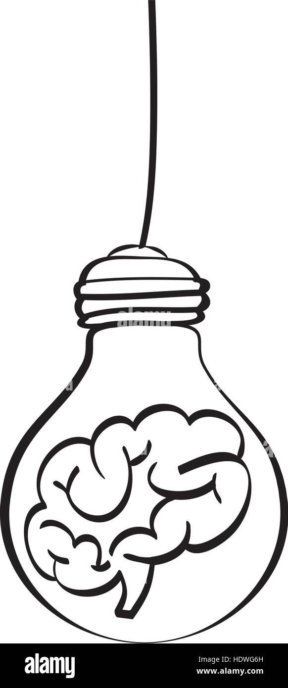 Lampe Licht zeichnen Symbol Vektor Illustration Grafik-design Vektor ...