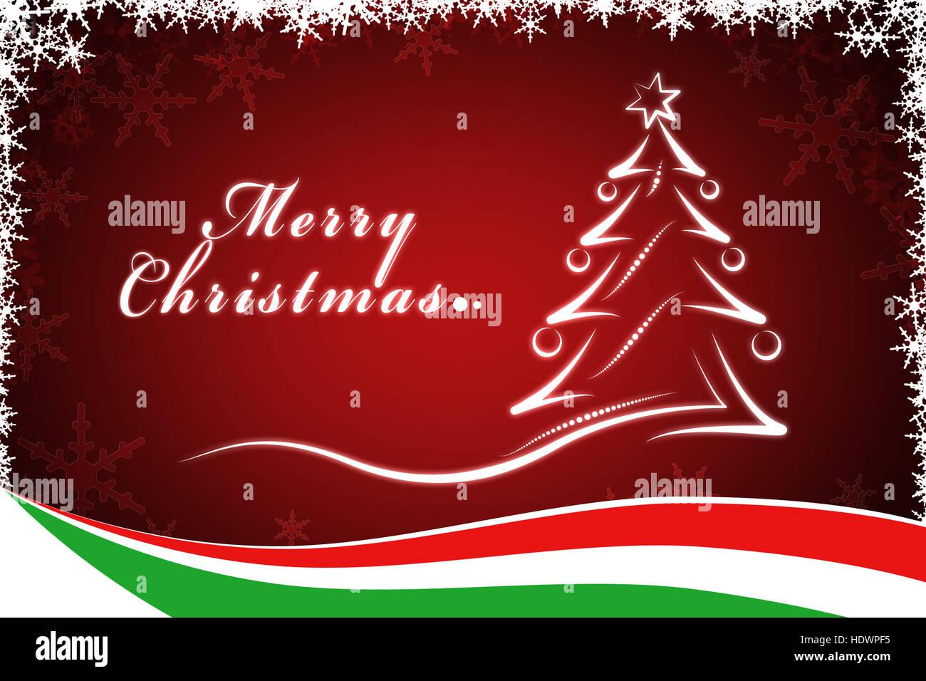 Weihnachtsbaum Mit Italienischer Flagge Stockfoto Bild 129029577