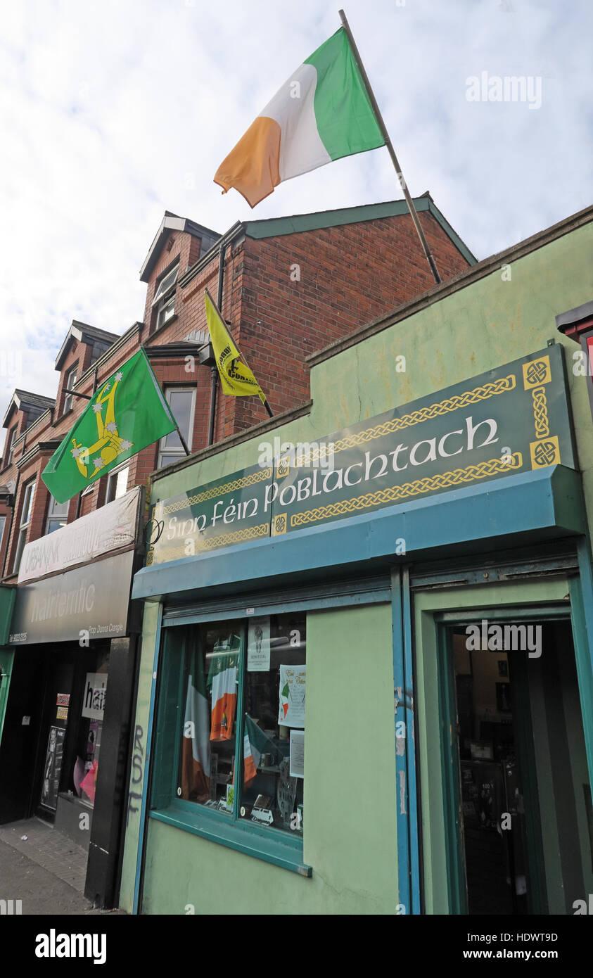 Belfast fällt Rd Republican Sinn Féin-Souvenir-Shop Stockbild