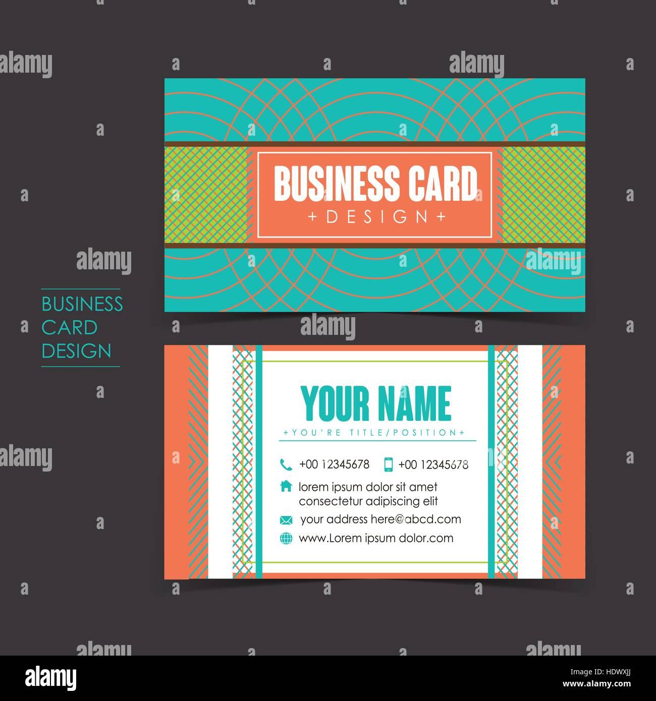 Professionelle Vektor Visitenkarten Vorlage Bühnenbild
