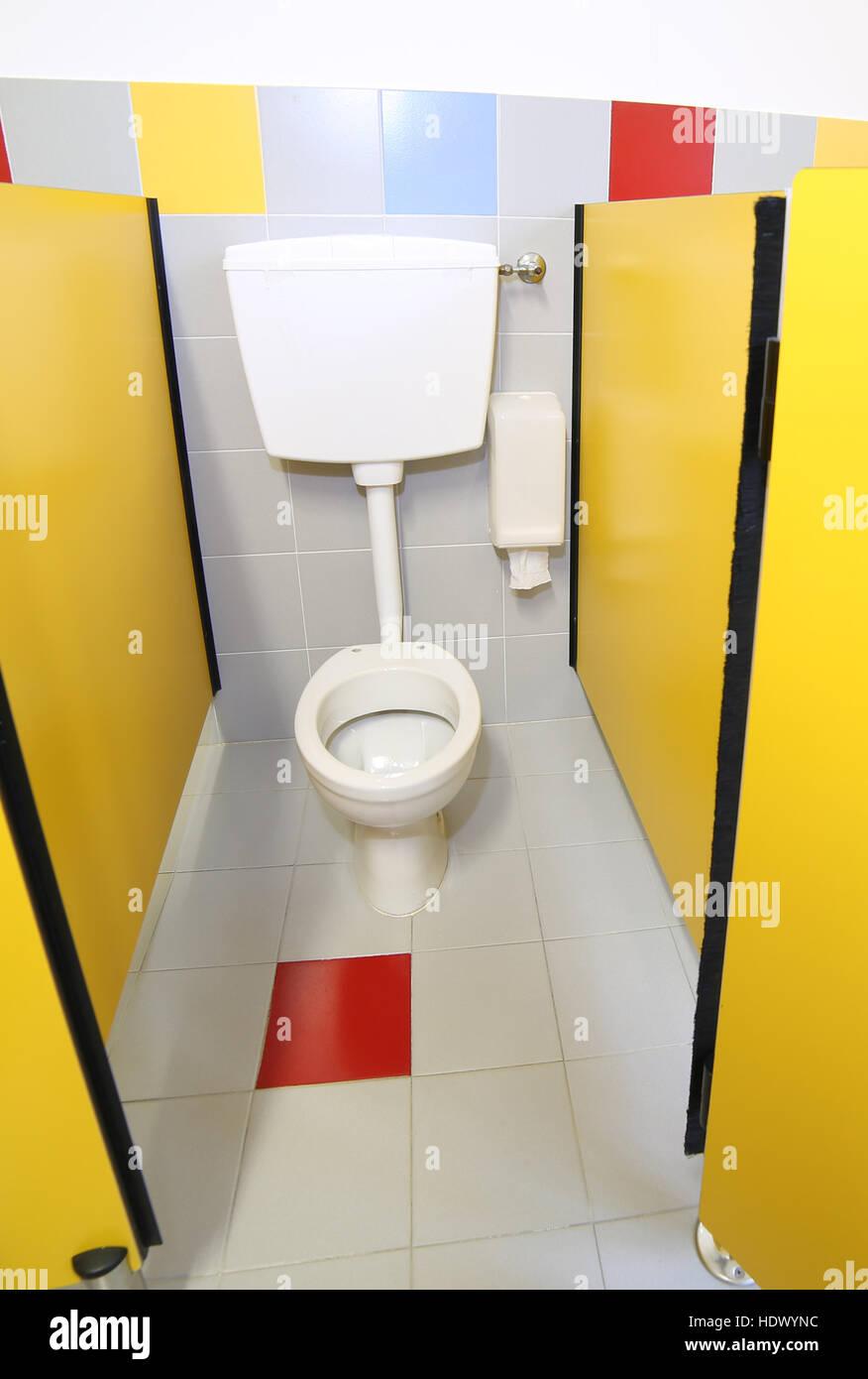 Small Toilet In Bathroom Kindergarten Stockfotos Small Toilet In