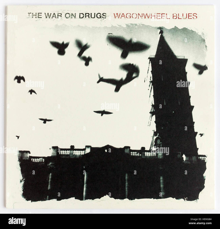 """Das Cover von """"wagonwheel Blues"""", 2008, album Der Krieg gegen Drogen auf Secretly Canadian Stockbild"""