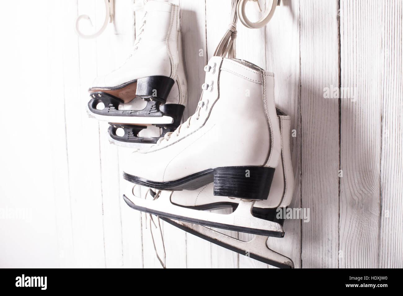Skates hautnah Stockbild