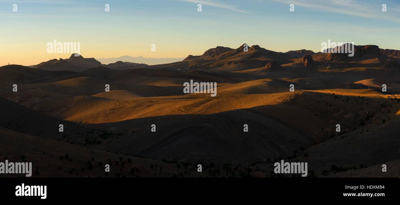 Landschaften o Die Anti-Atlas, Marokko Stockbild