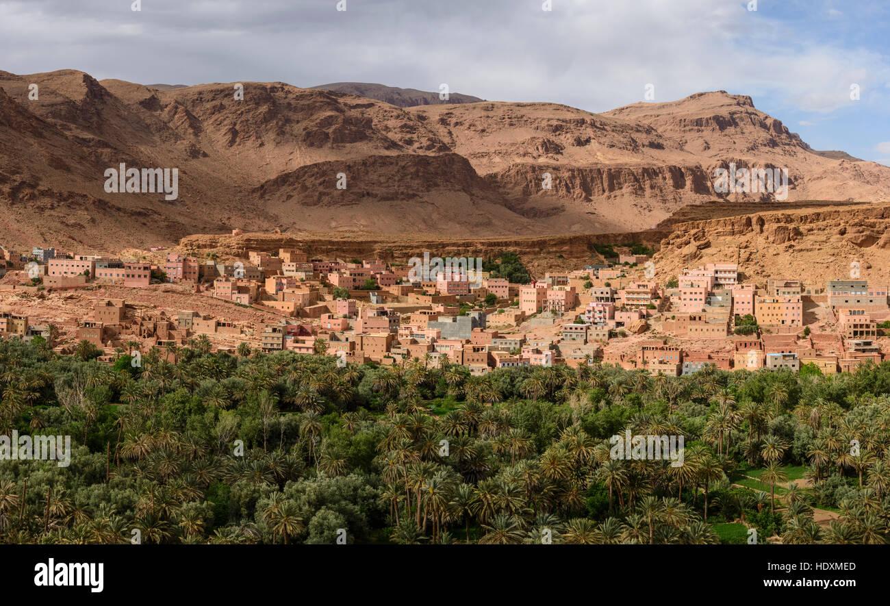 Dörfer des Hohen Atlas, Marokko Stockbild