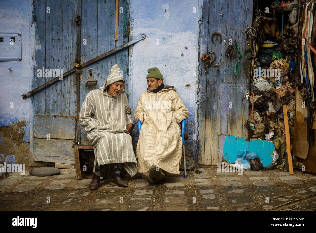 Straßen und Gassen der Medina von Meknes, Marokko Stockbild