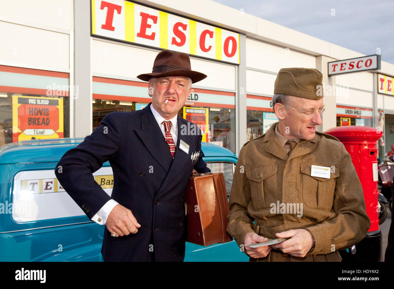 Goodwood Revival Tesco Pop-up-store Stockbild