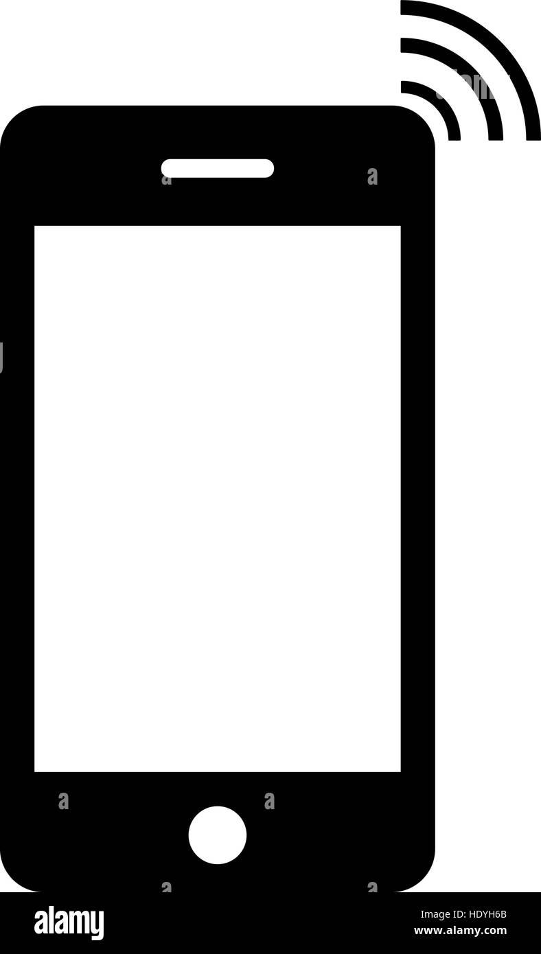 handy symbol isoliert auf wei em hintergrund vektor. Black Bedroom Furniture Sets. Home Design Ideas