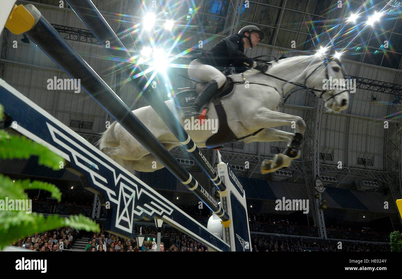 London, UK. 15. Dezember 2016. Olympia London International Horse Show in Grand Hall Olympia London, UK. 15. Dezember Stockbild