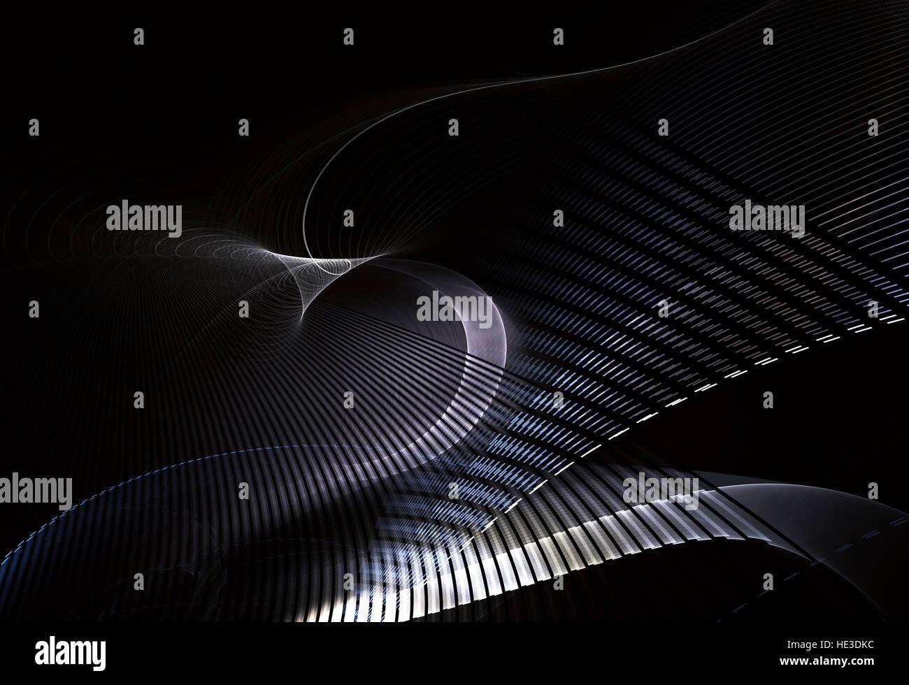 abstrakte Fraktal Hintergrund eine computergenerierte 2D Darstellung Stockbild