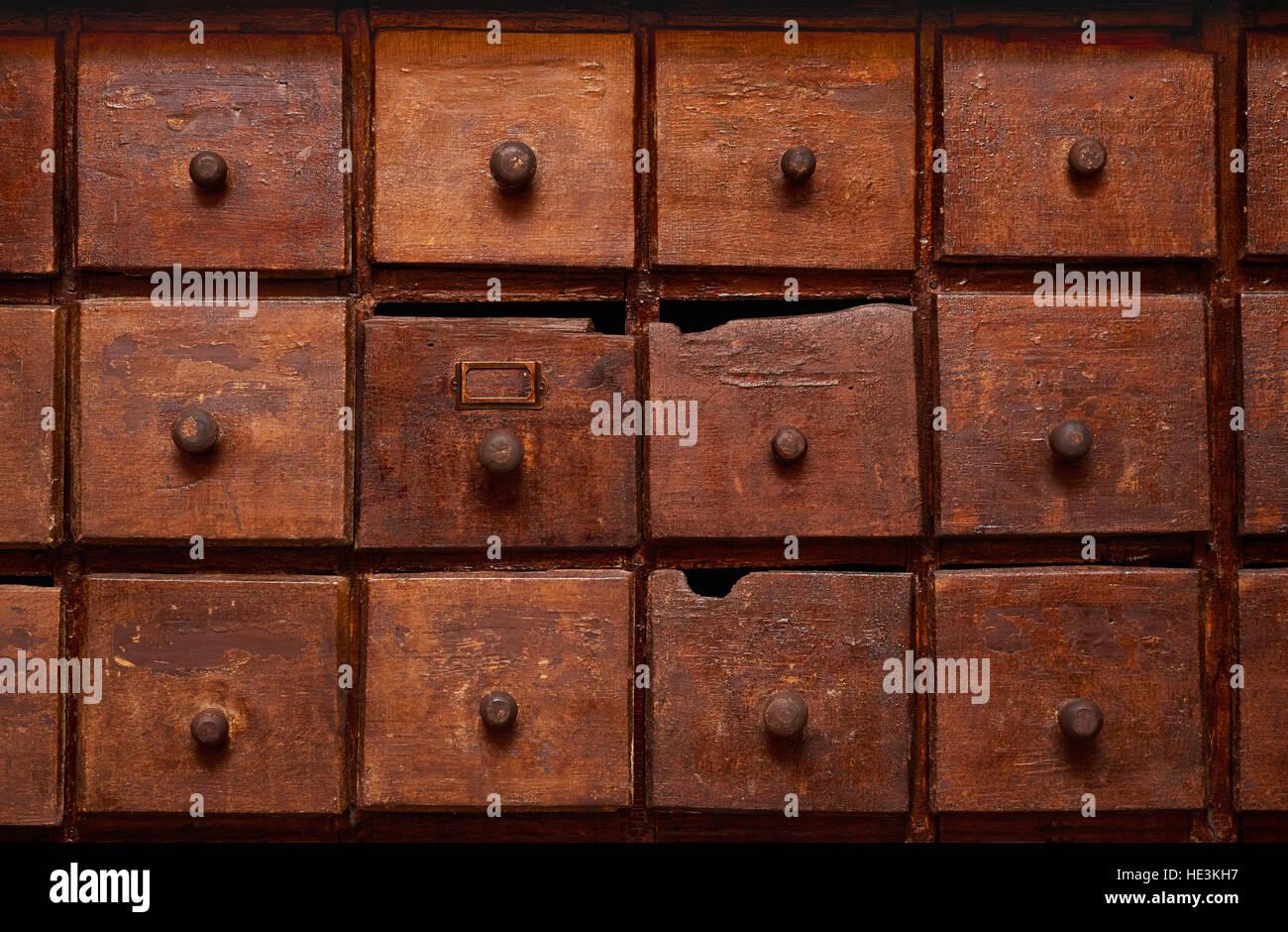 old filing drawers stockfotos old filing drawers bilder alamy. Black Bedroom Furniture Sets. Home Design Ideas