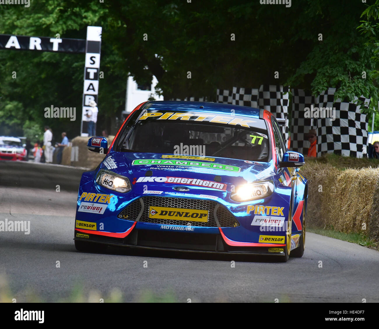 Andrew Jordan, Ford Focus ST, BTCC Shootout, Goodwood Festival of Speed, 2016. Autos, Autos, Unterhaltung, Festival Stockbild