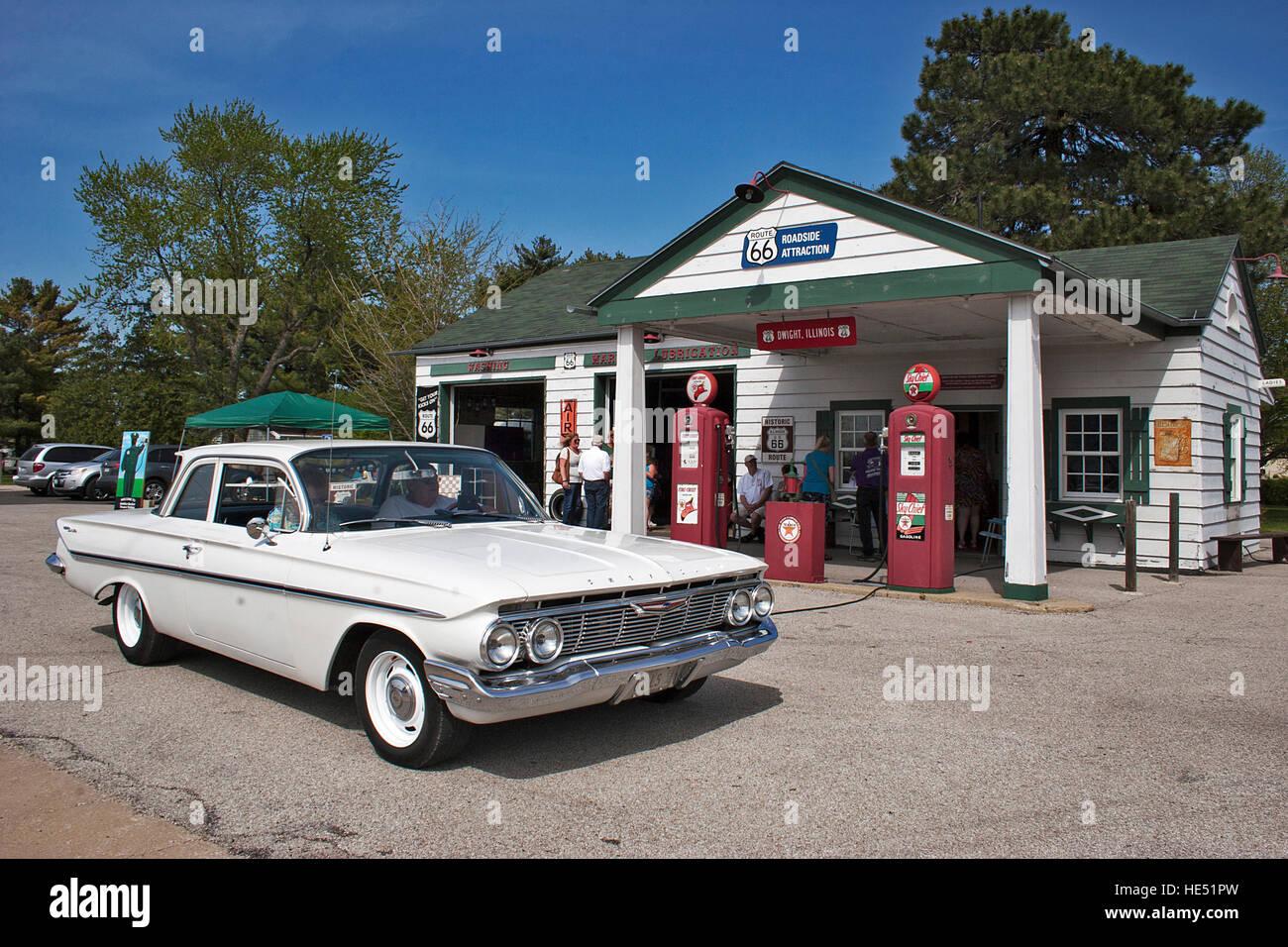 Nostalgische Route 66 Texaco Stockbild