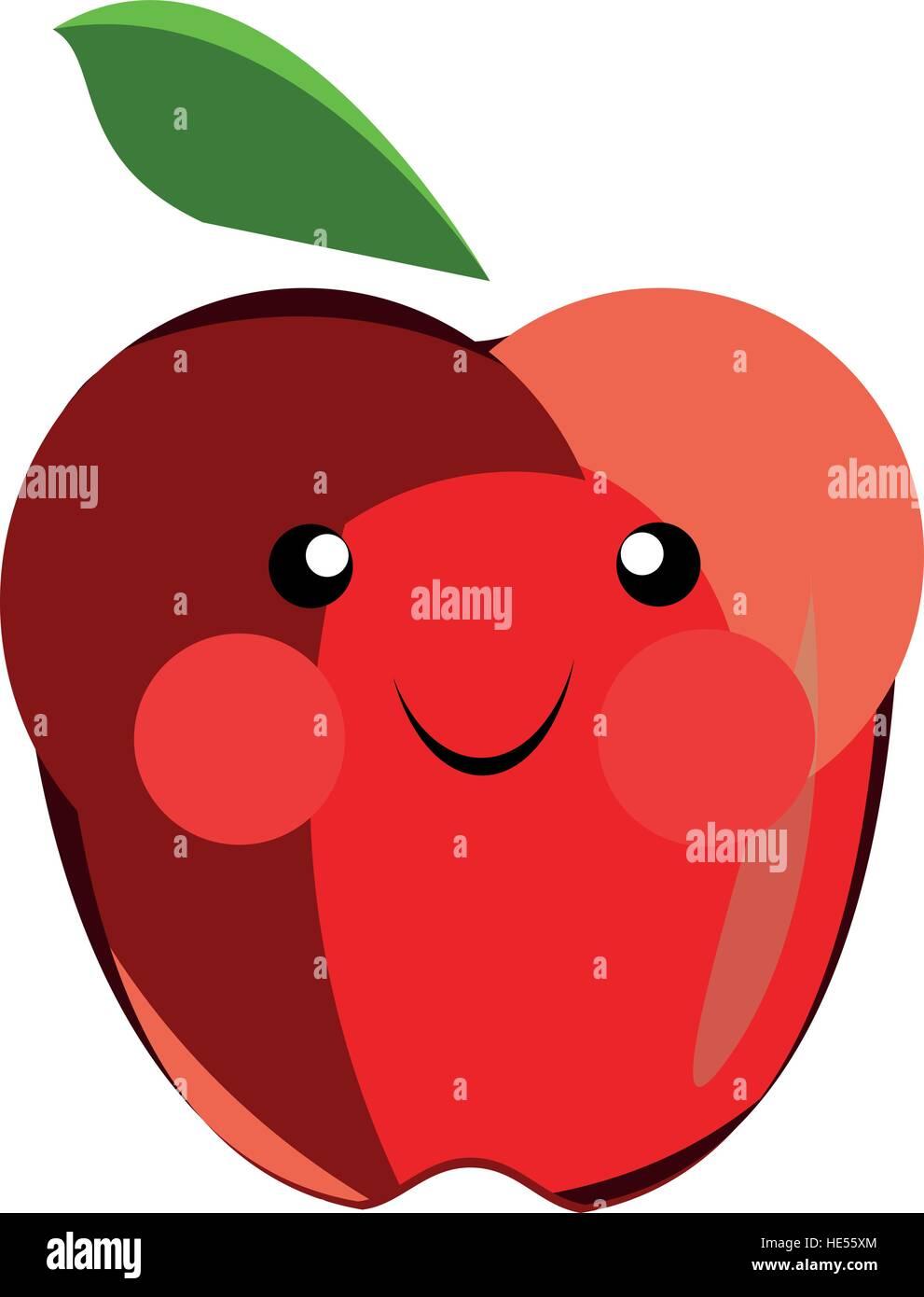Cartoon-Apfel, der in verschiedenen Vorlagen verwendet werden können ...