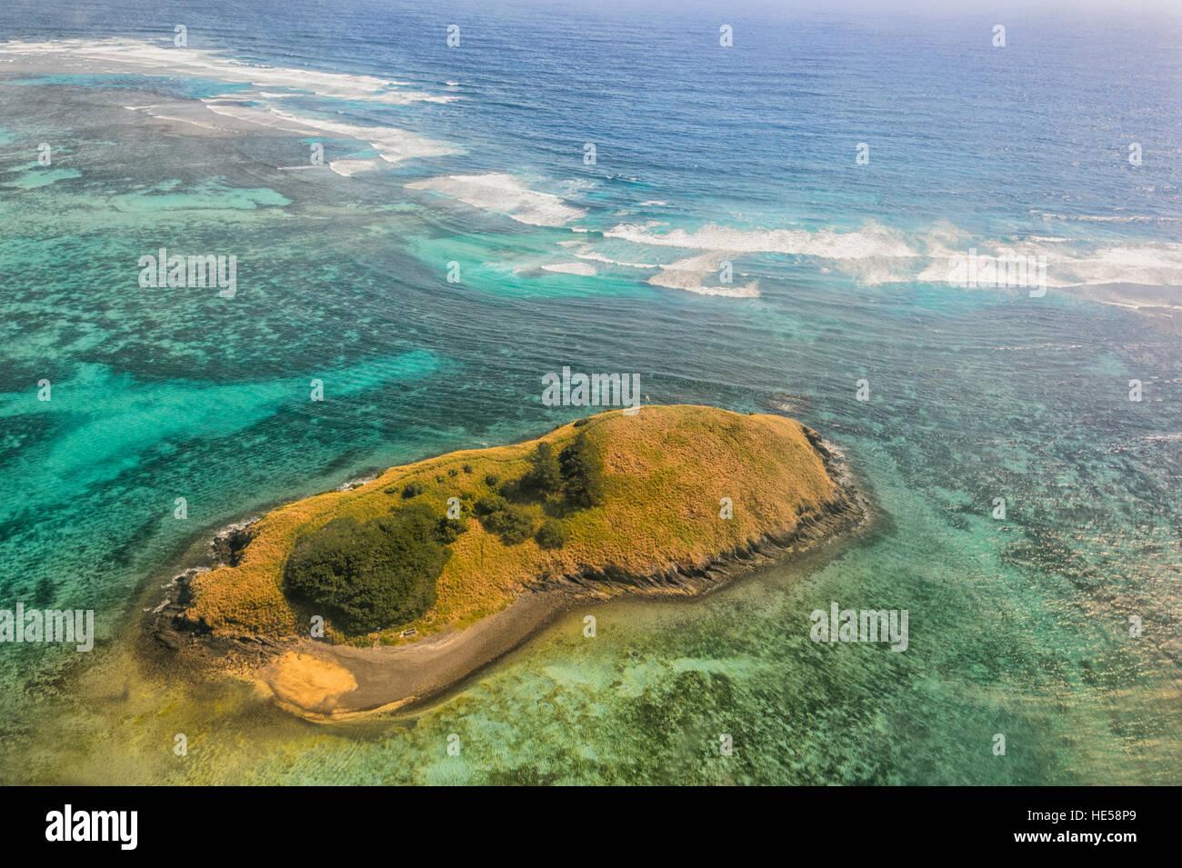 Luftaufnahme des Reef in der Nähe von Lord Howe Island, Tasman Sea, New South Wales, NSW, Australien Stockbild