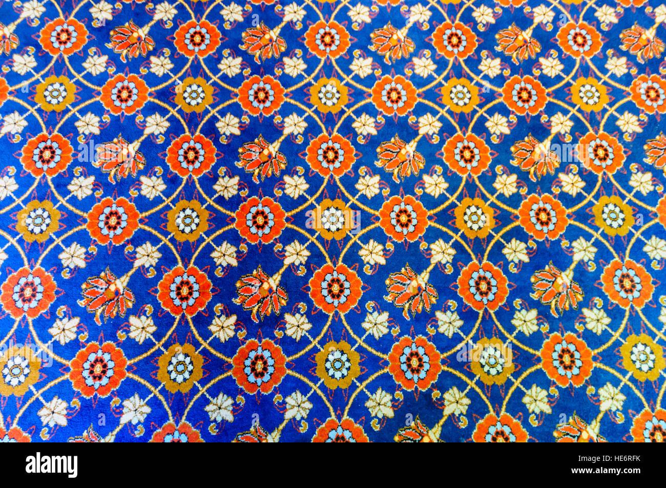 Stark gemusterten Teppich. Stockbild