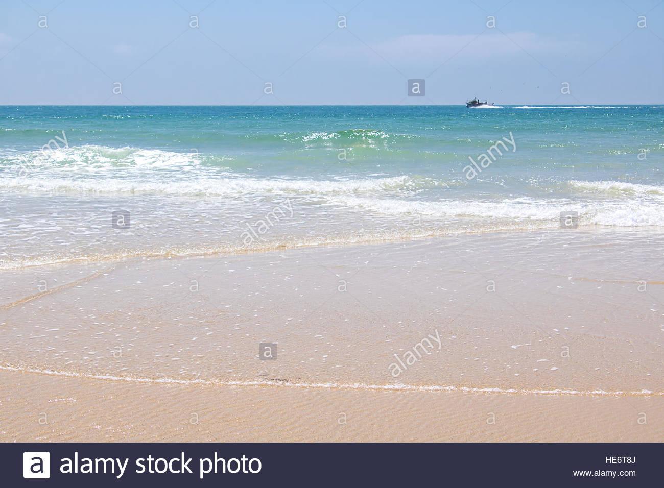 Sommerurlaub Reiseziel Französisch mediterrane Sandstrand schönen Natur Landschaft Oceanscape Reisen Fotografie Stockbild