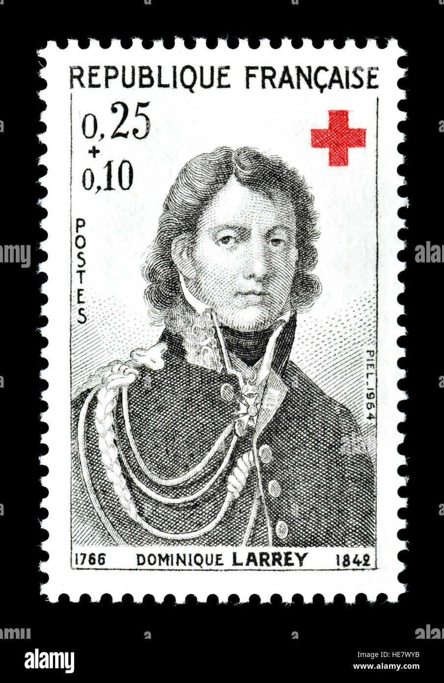 Französische Briefmarke (1964): Dominique Jean Larrey (1766 ? 1842) französischer Chirurg in Napoleons Stockbild
