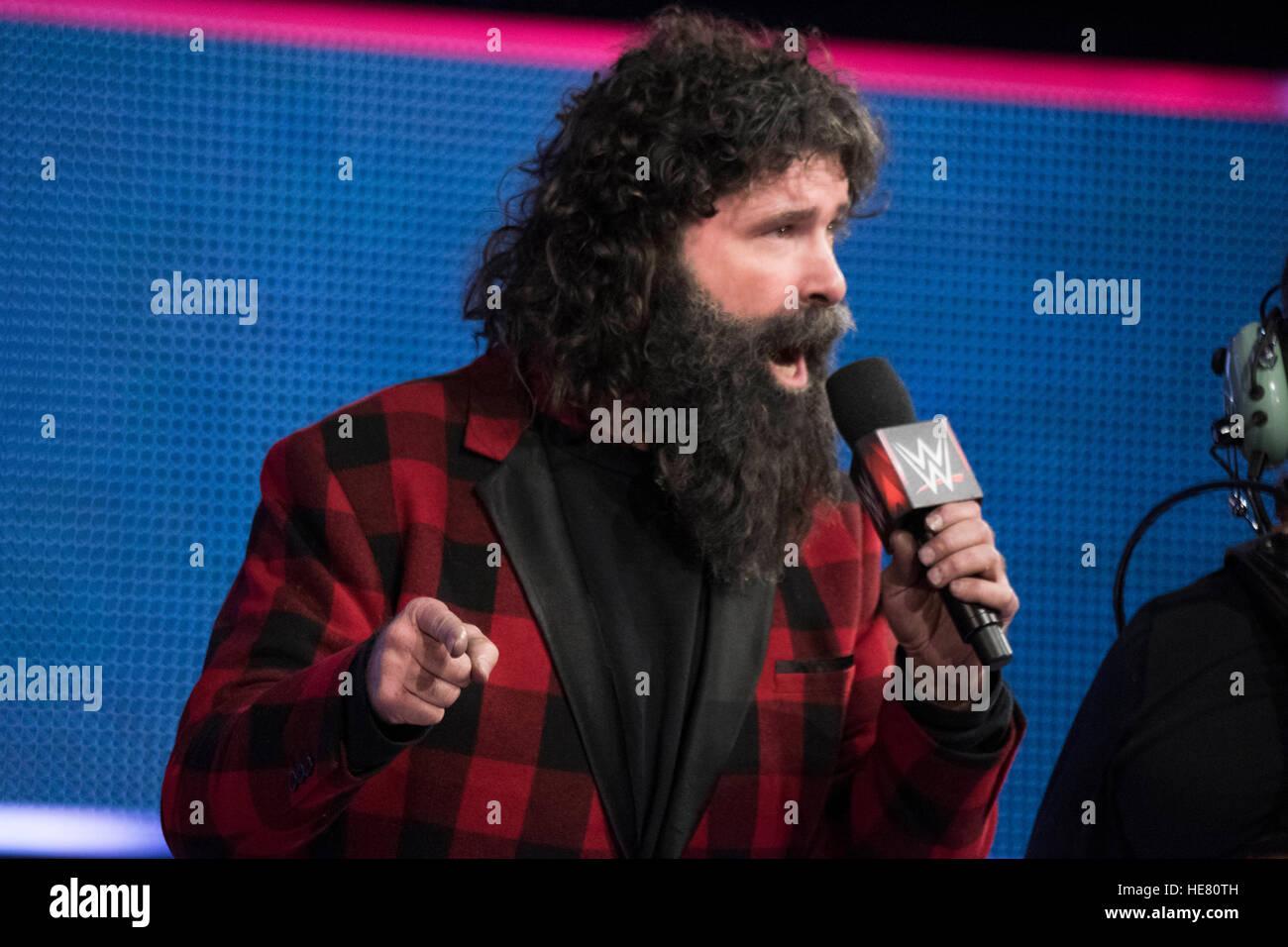 WWE Ringkämpfer Mick Foley an den 14. jährlichen Tribut an die Truppen Veranstaltung Ringkampf im Verizon Stockbild