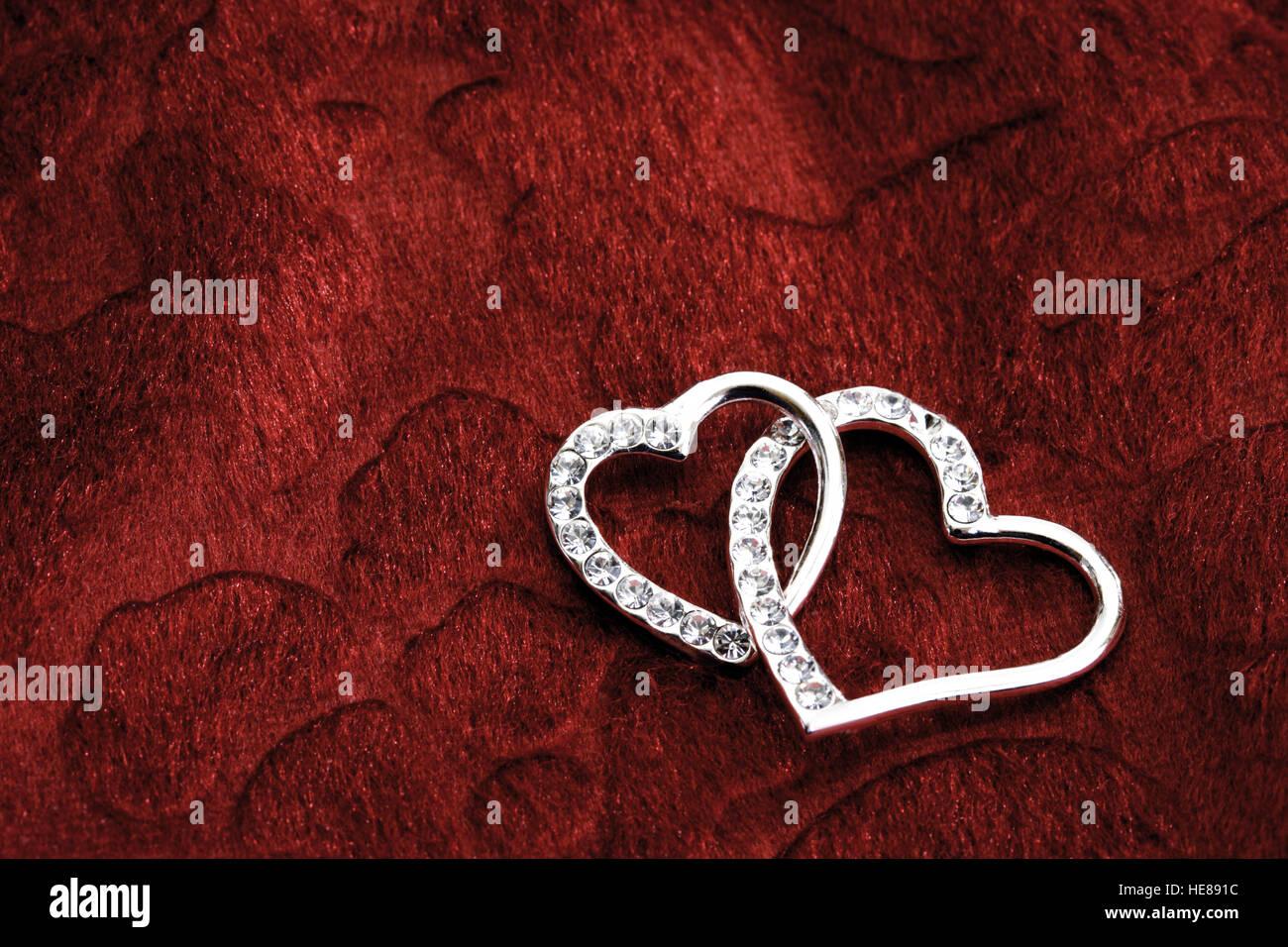 Zwei Herzen Ineinander Stockfoto Bild 129260472 Alamy