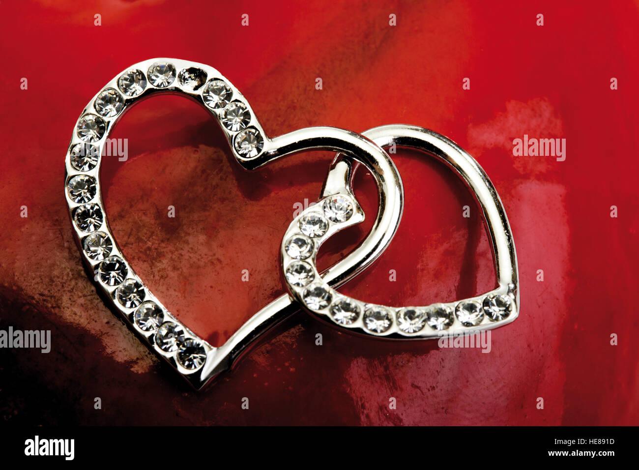 Zwei Herzen Ineinander Stockfoto Bild 129260473 Alamy