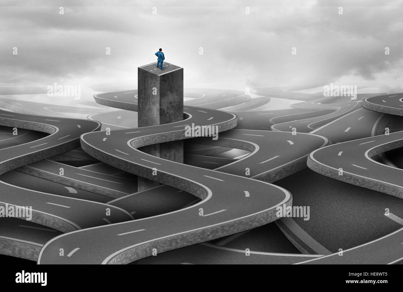 Abhanden gekommen als einsamer Geschäftsmann oder Privatperson verwechselt und als Metapher für die aus Stockbild