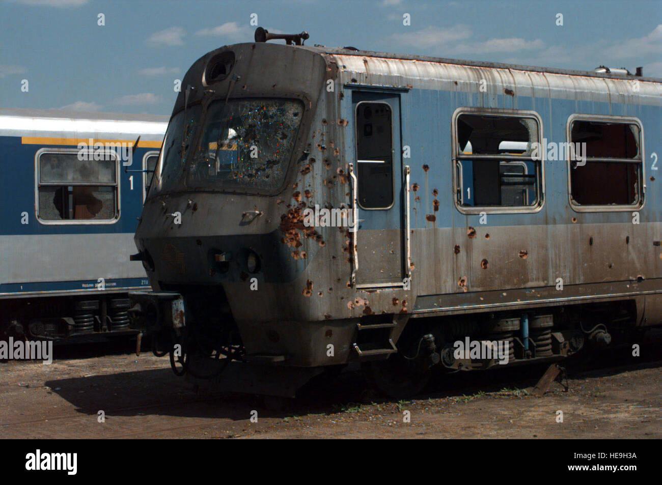 Einer der vielen Züge in den Güterbahnhof an der Rajlovak Zug Anlage ...