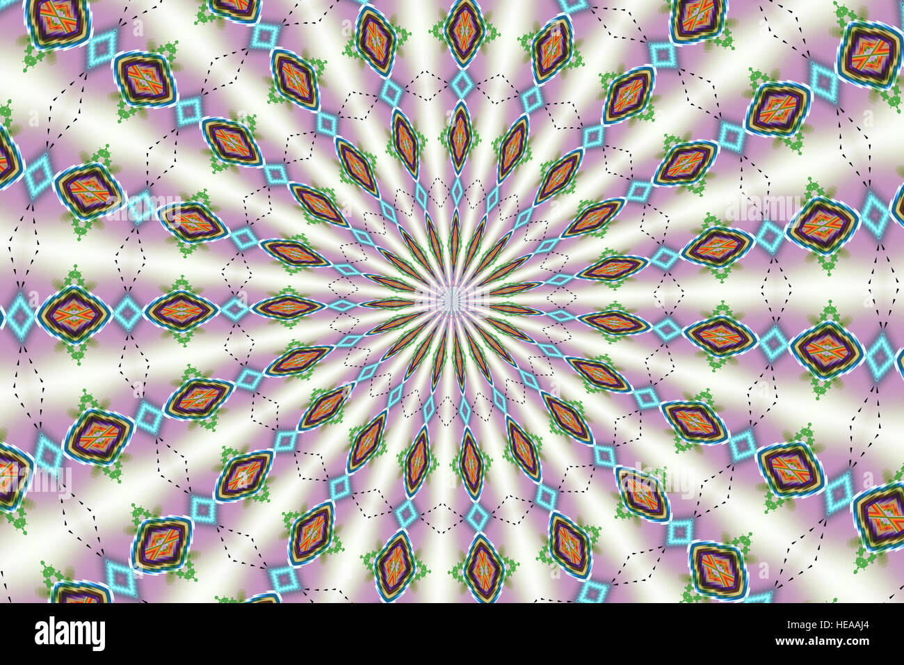 Digitale Kunst - Kaleidoskop - Illustration Stockbild