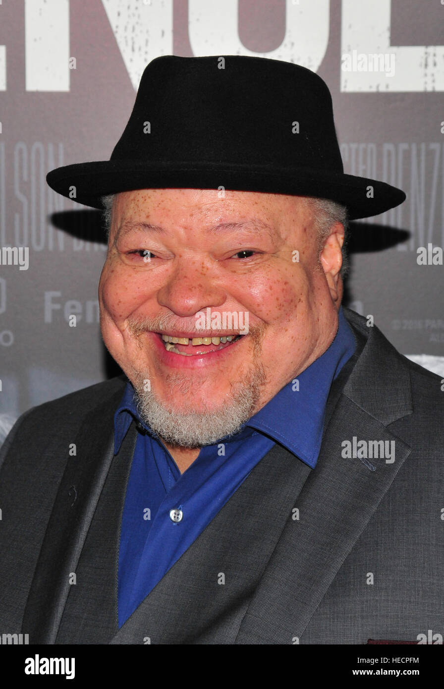New York, USA. 19. Dezember 2016. Stephen Mckinley Henderson besucht 'Fences' New York screening im Rose Stockbild