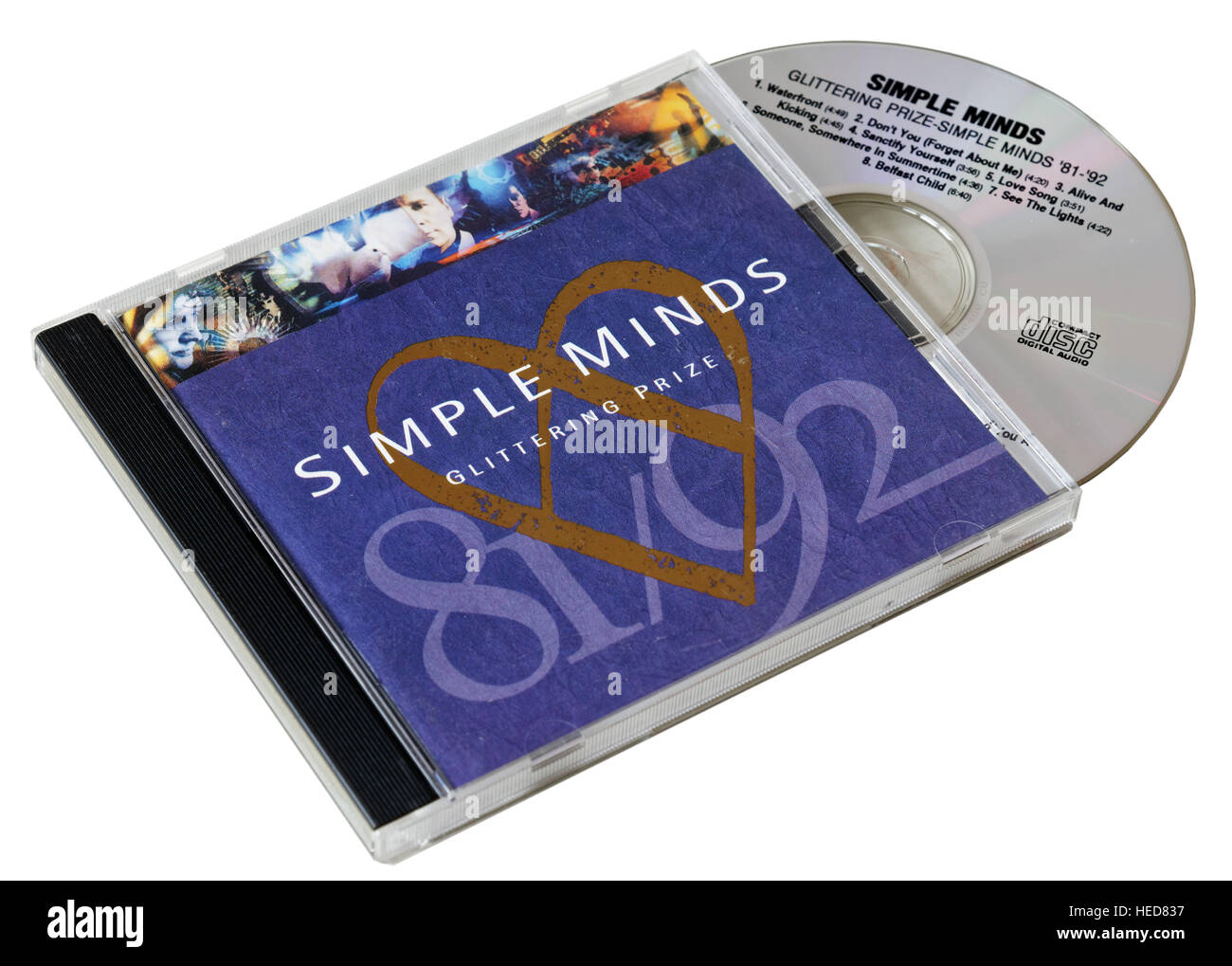 Simple Minds glitzernde Preis CD Stockfoto