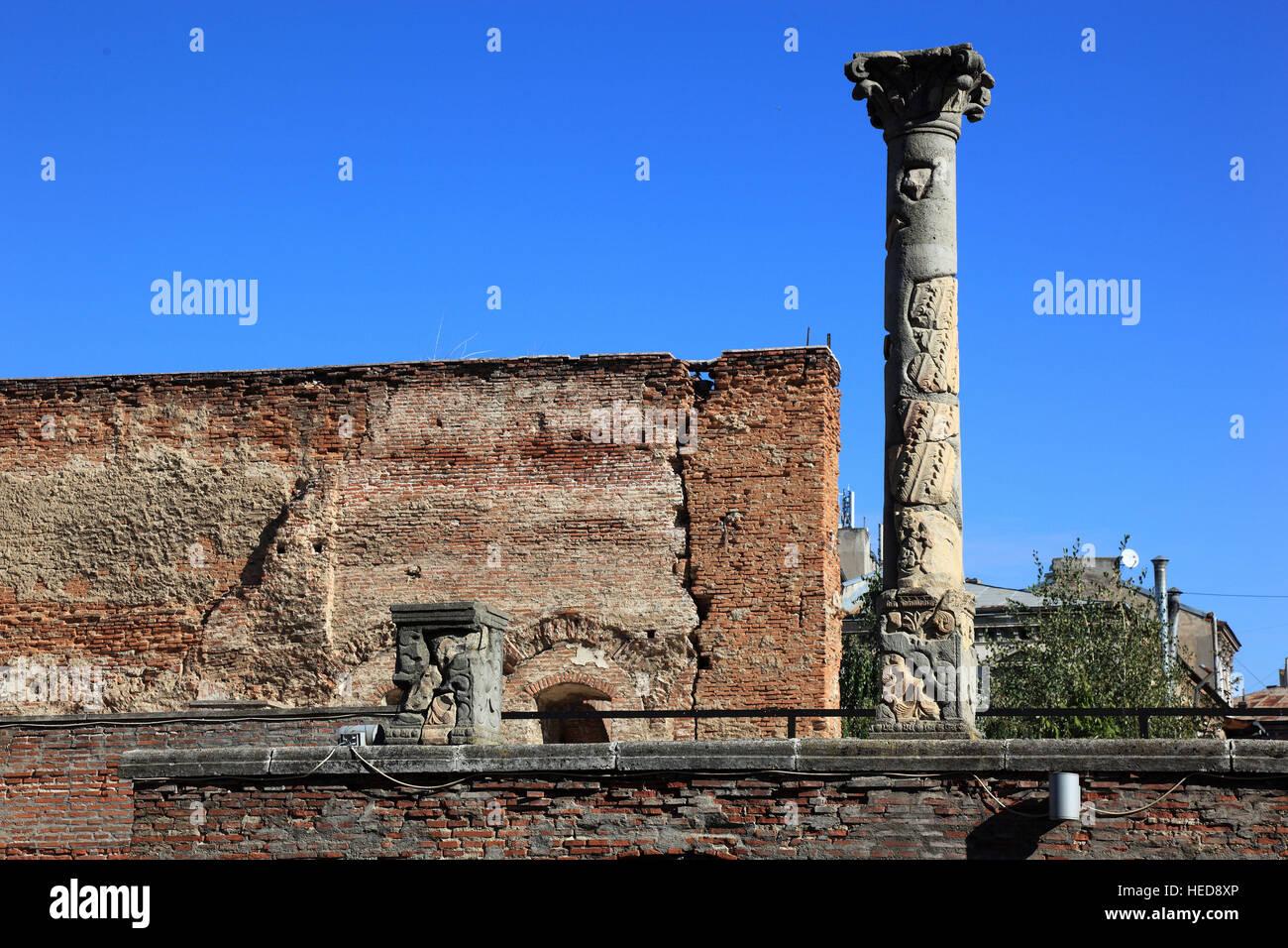 Rumänien, Bukarest, Zentrum, Historischen Altstadt, Curtea Veche, verändern Fürstenhof, erstellte Stockbild